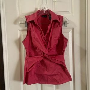 New York & Company Pink Sleeveless Blouse size 6
